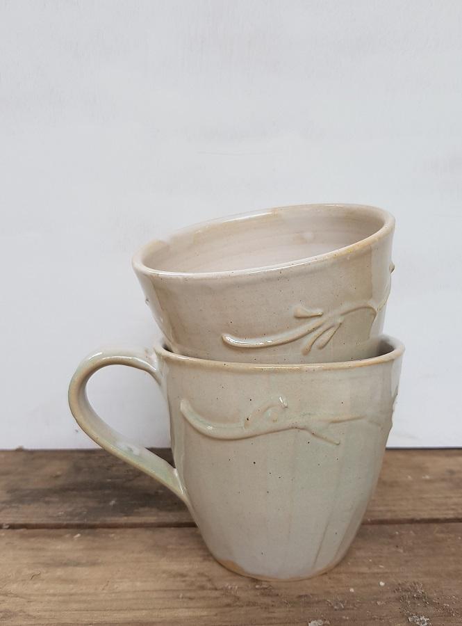 כוסות קרמיקה לבנות