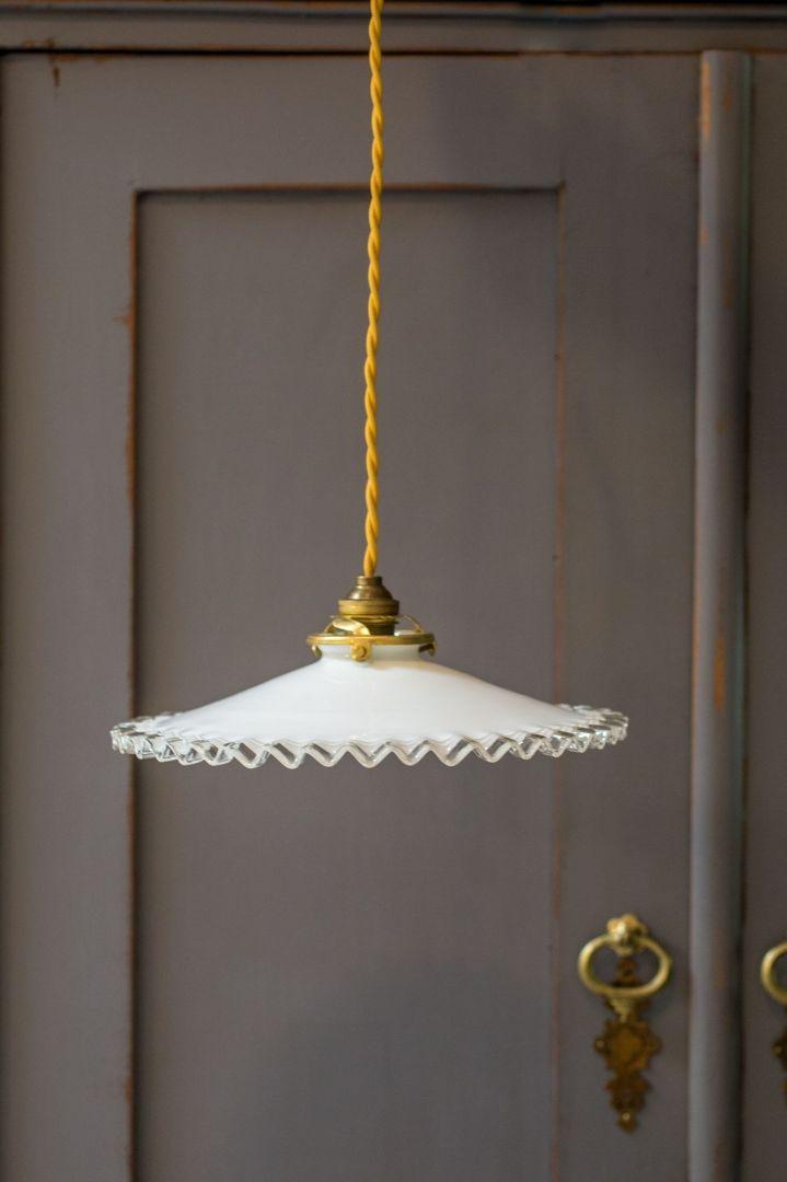 מנורת תליה מניפת זכוכית