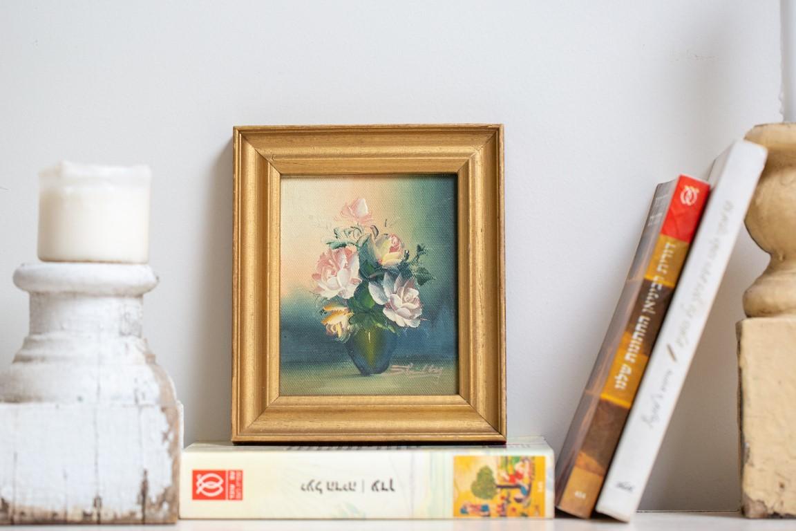 תמונת ורדים מסגרת זהב