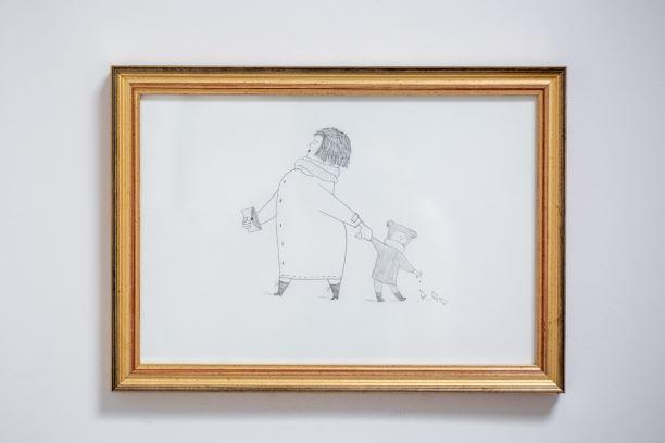 ציור אמא וילד